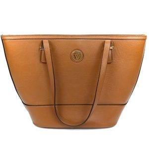 Anne Klein Large Carmel Brown Faux Leather Tote